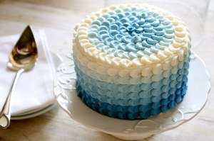 Blue Ombre Petal Cake